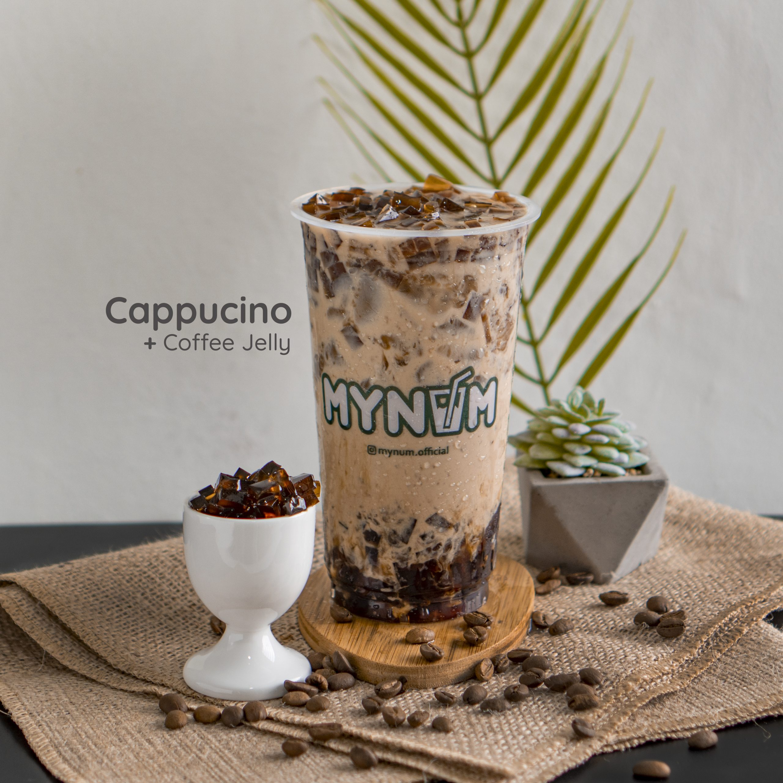 15. Cappucino With Coffee Jelly